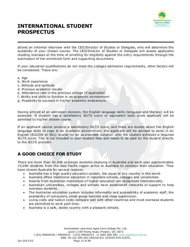 Alacc International Student Prospectus