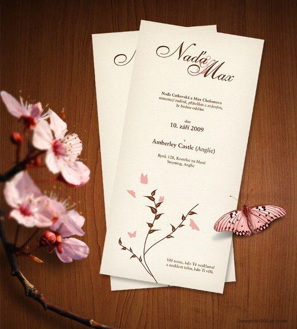 43+ Wedding Card Templates – Free Printable, Sample, Example ...