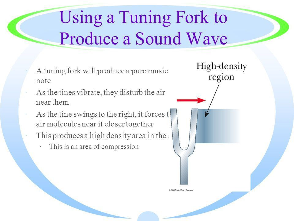 Sound Longitudinal waves Producing a Sound Wave ·Sound waves are ...