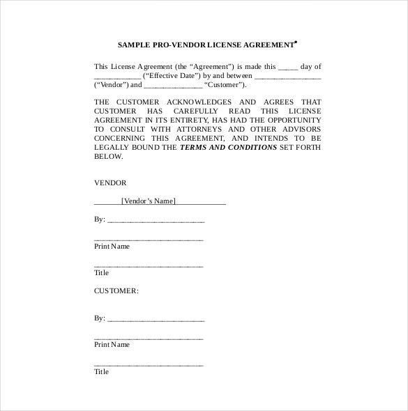 Sample License Agreement Template. Consulting Agreement Long ...