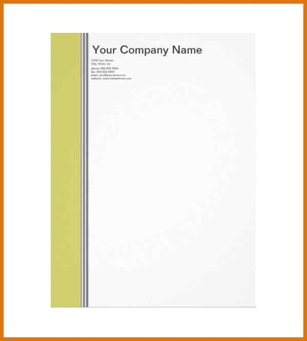 Personal Letterhead Template. Greyscale Mountain Personal ...