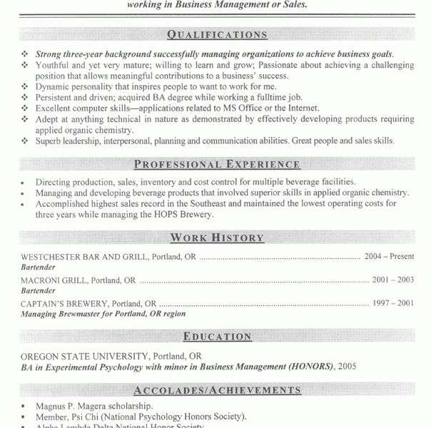 Spectacular Inspiration Example Of A Great Resume 5 Examples Good ...