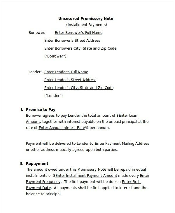 Promissory Note Template - 10+ Free Word, PDF Document Downloads ...