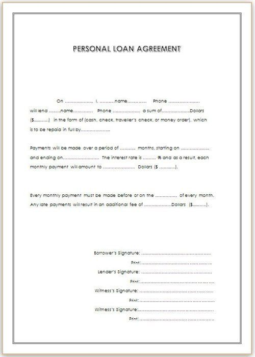Loan Agreement Template for Doc