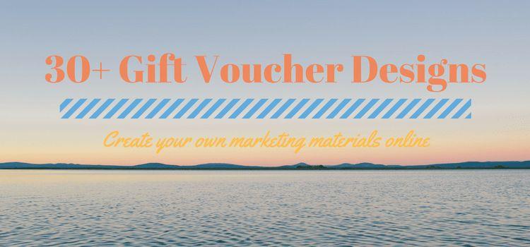30+ Gift Voucher Designs - Create your own marketing materials online