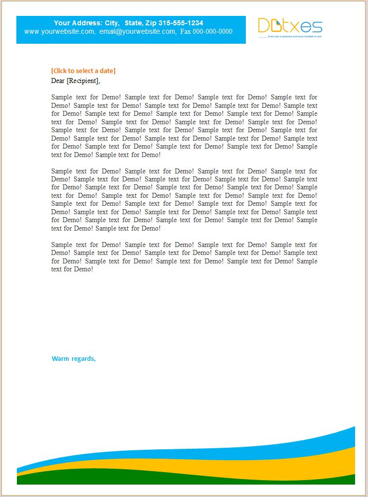 Letterhead Template (For Small Business) - Dotxes