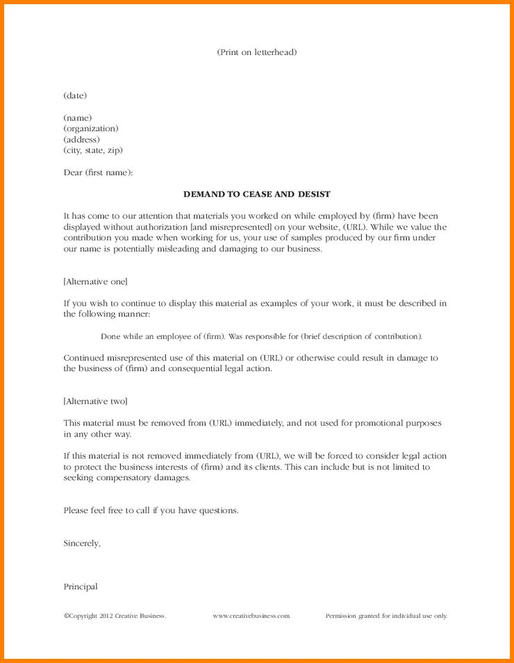 8+ cease and desist letter template | resume reference