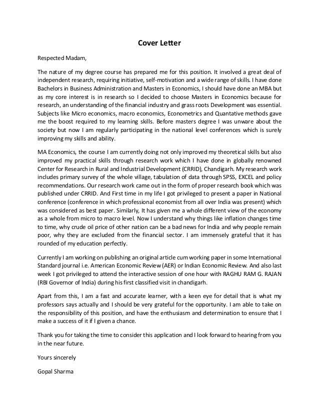 cover letter for journal