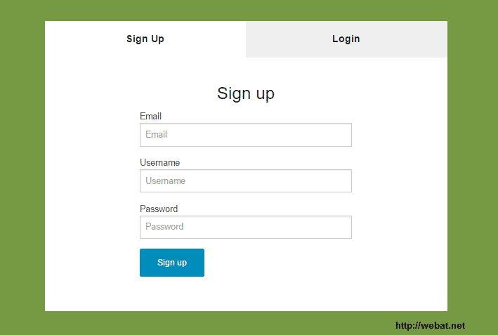 Register Form Html Css Responsive Design Templates - Web@.net