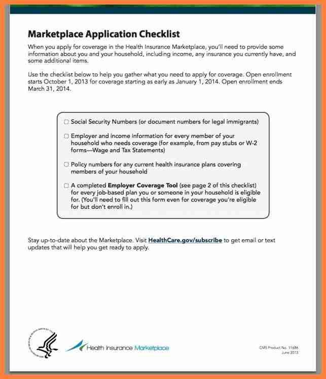 8+ health insurance marketplace application form | Life Insurance ...