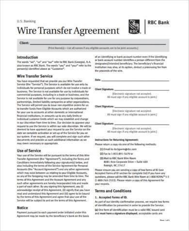 Sample Transfer Agreement Forms - 8+ Free Documents in PDF