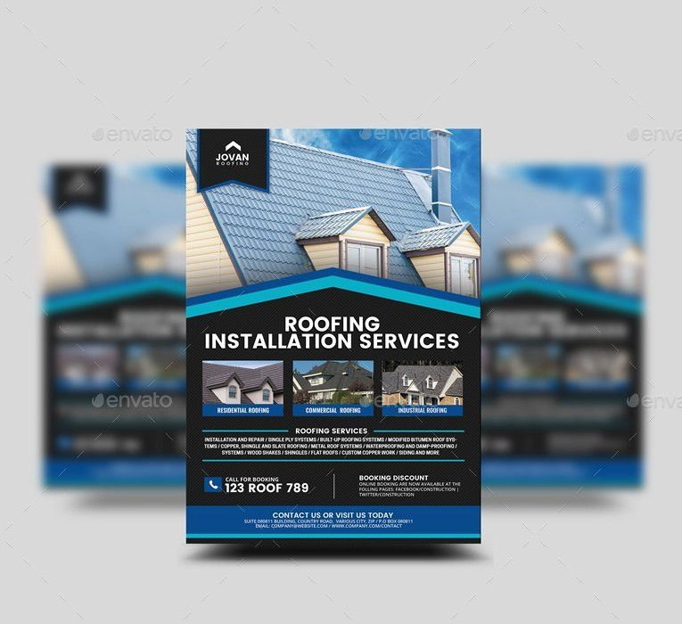 Roofing Services Flyer v2 by Artchery | GraphicRiver