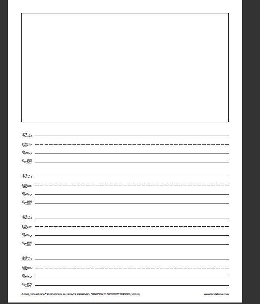 """Writing paper--teach using a """"skyline,"""" """"plane line,"""" """"grass line ..."""