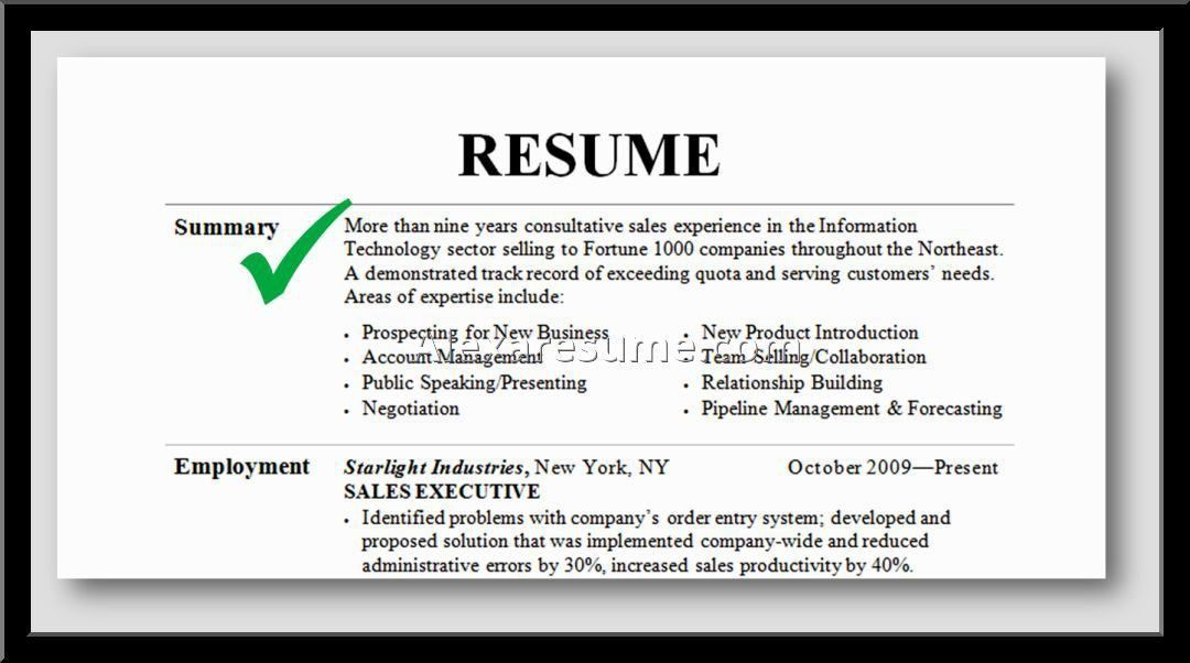 Absolutely Ideas Professional Summary For Resume 2 How To Write A ...