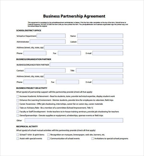 Sample Business Partner Agreement - 7+ Free Documents Download in ...
