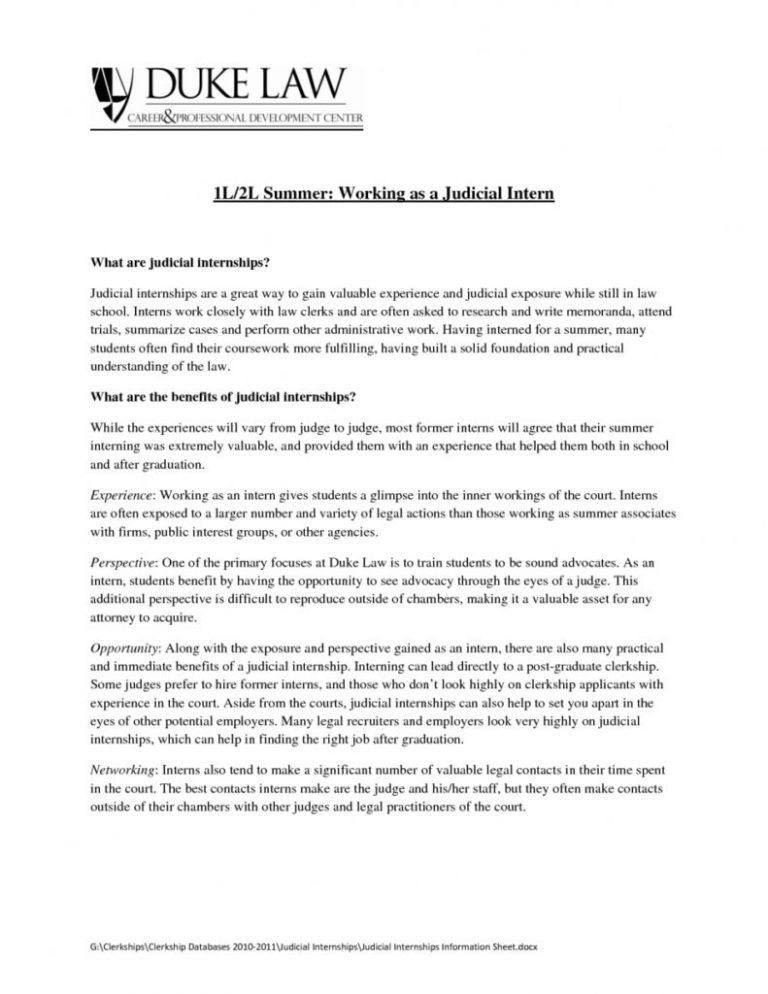 judicial clerk cover letters