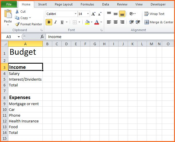 9+ Simple Budget Template - Budget Template Letter
