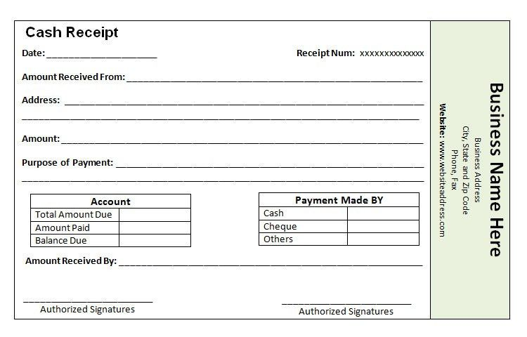 template for a receipt of payment - Hallo