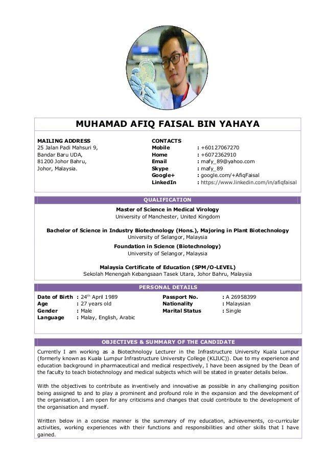 Resume - Muhamad Afiq Faisal Yahaya