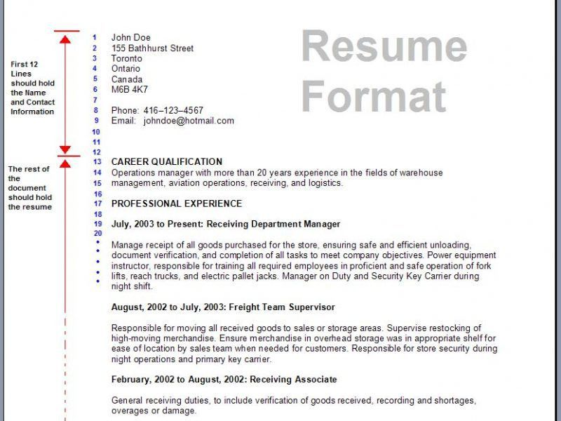 how to make a proper resume format
