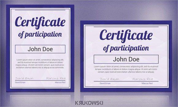 7+ Sample Participation Certificate - PSD, PDF