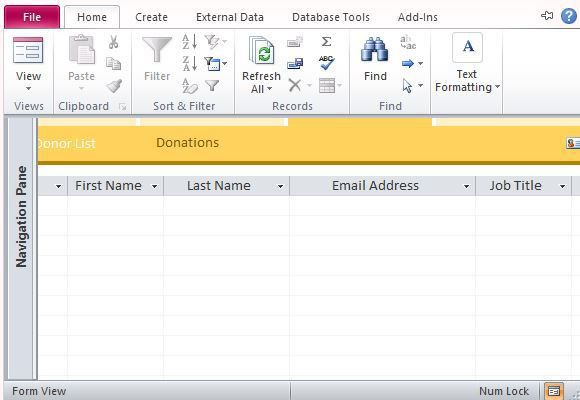 Charitable Donor Database Template For Access