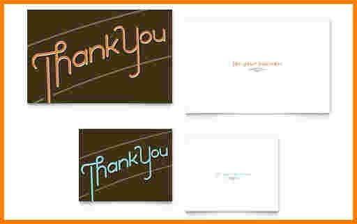 8 thank you note template word | Receipt Templates
