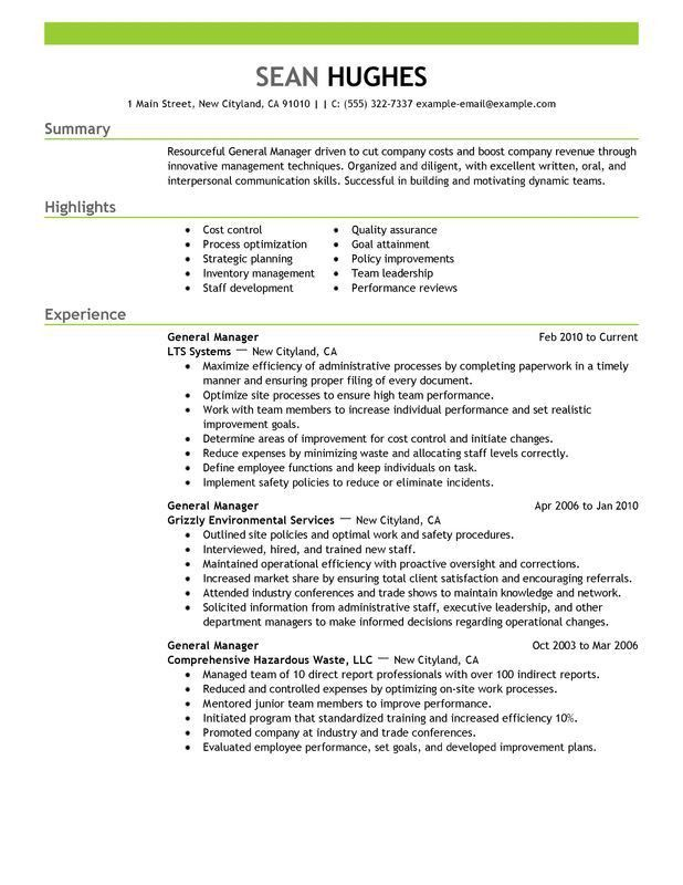 Restaurant General Manager Resume 7 Restaurant General Manager ...