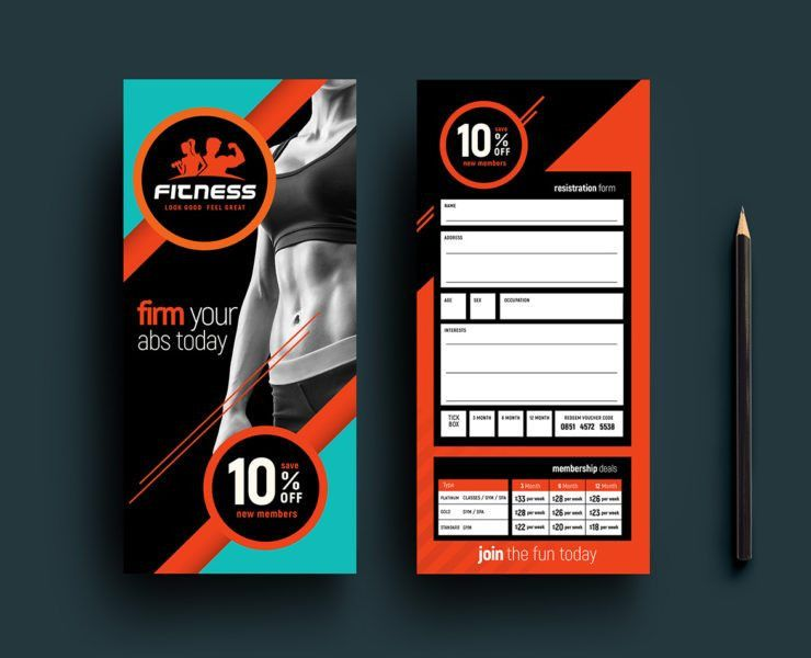 Gym / Fitness Membership Card Template - BrandPacks