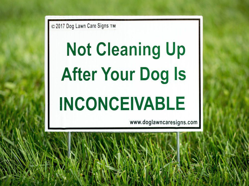 Dog Lawn Care Signs