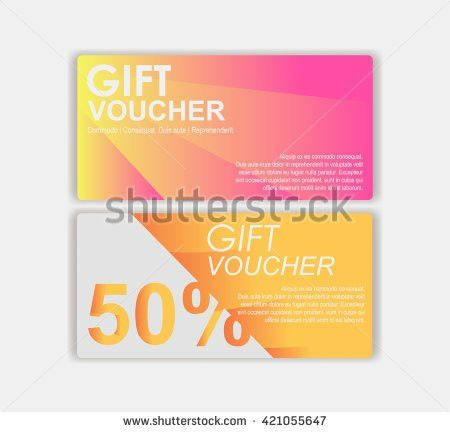 Vector Illustrationgift Voucher Template Cute Gift Stock Vector ...