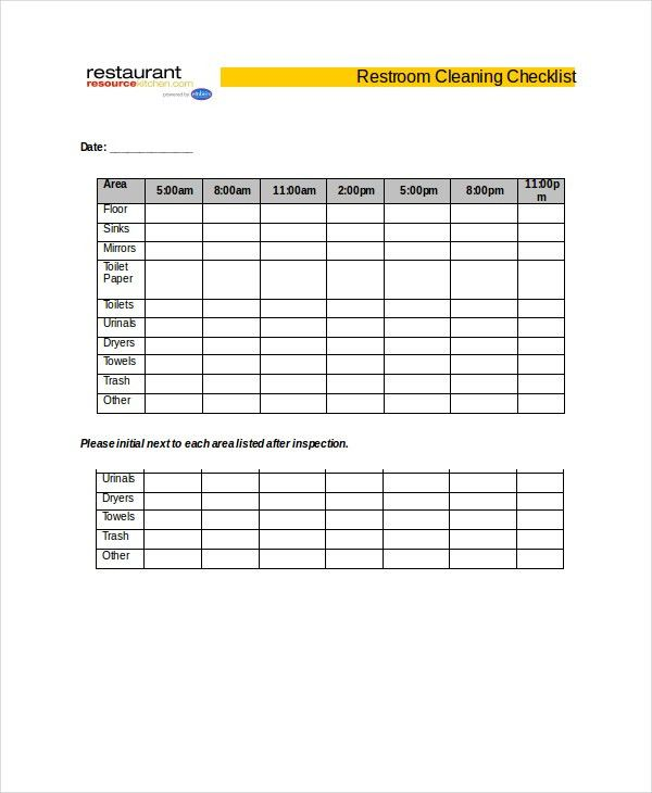 Cleaning Checklist - 19+ Free Word, PDF, PSD Documents Download ...