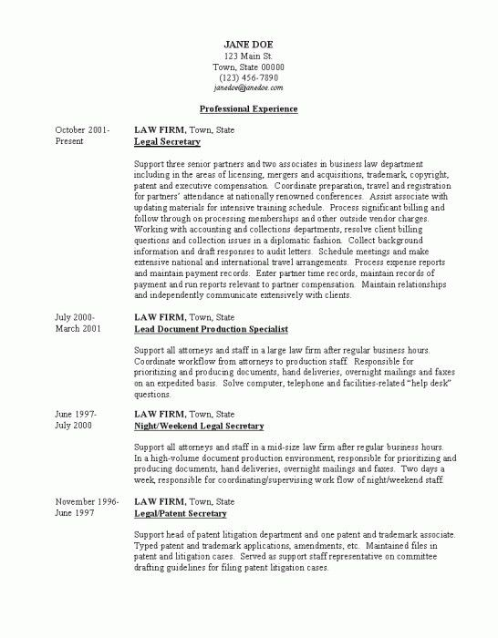 Download Legal Secretary Resume | haadyaooverbayresort.com