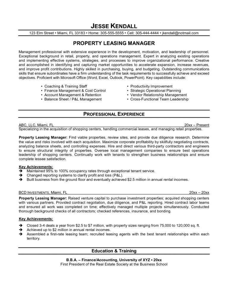 Leasing Agent Resume 20 Cover Letter Healthcare Consultant Resume ...