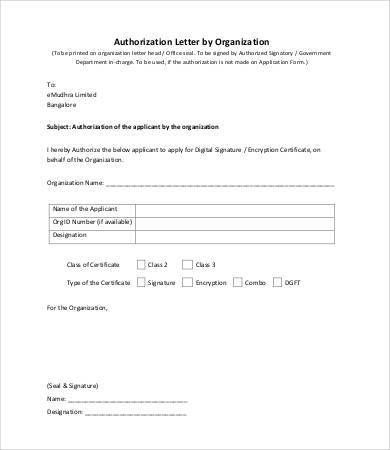 Letter Of Authorization - 7+ Free Word, PDF Documents Download ...