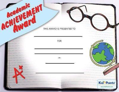 Printable Certificates   Academic Achievement   Kid Pointz