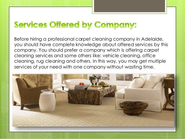 Facts to know before hiring a carpet cleaning Adelaide