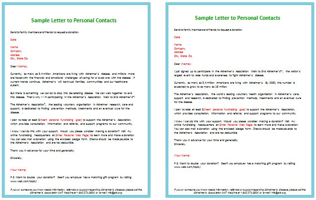 Donation Letter Templates for Fundraising - Free Examples and Formats