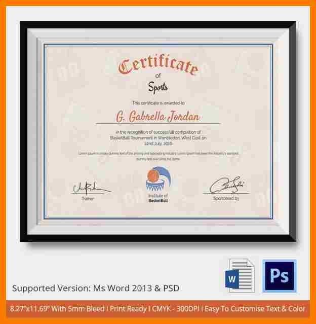 7+ sports certificate sample   park-attendant