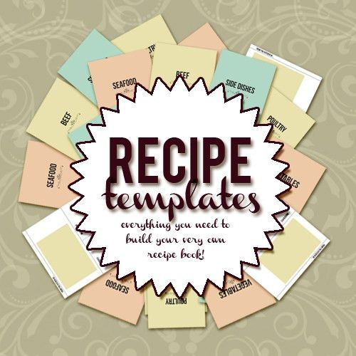 Create your own recipe book with this 8.5 x 11 recipe template ...