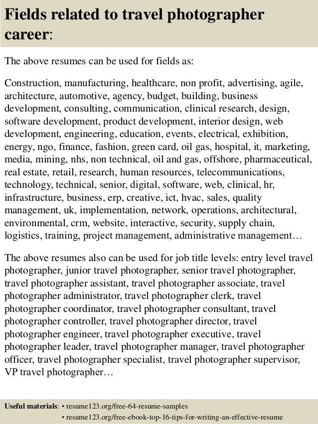 photography resume samples unforgettable senior photographer
