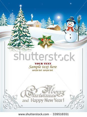 Christmas Holidays Card Decoration Vector Illustration Stock ...