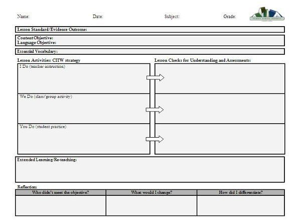 Daily Single Subject Lesson Plan Template - Secondary | Lesson ...