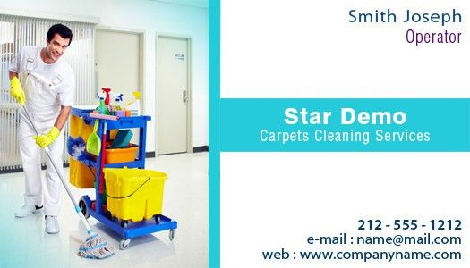 2x3.5 Carpets Dry Cleaning Services Business Card Square Corner ...