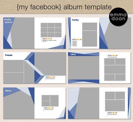 Facebook Style Album Template 12x12 Photobook Template от EmmaDoan ...