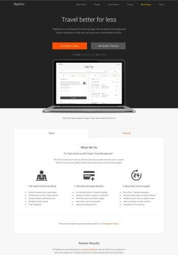 Examples of the Best Search Landing Page Designs
