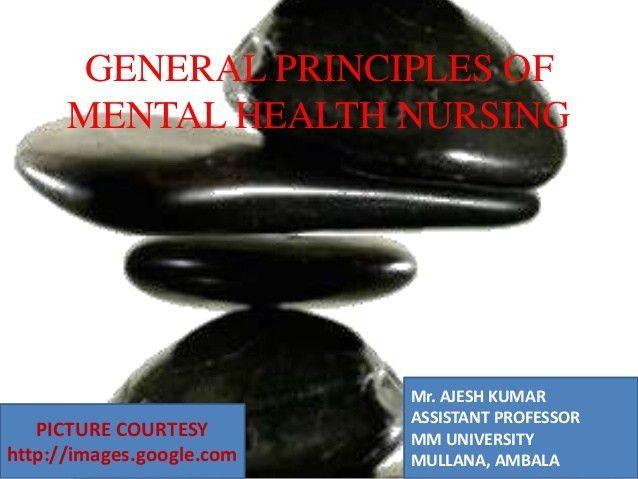 Principles of Mental Health (Psychiatric) Nursing