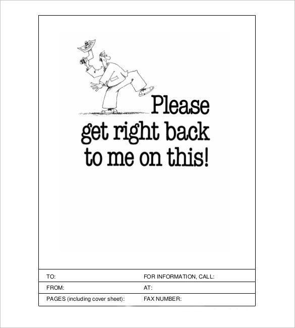 Cute fax cover sheet