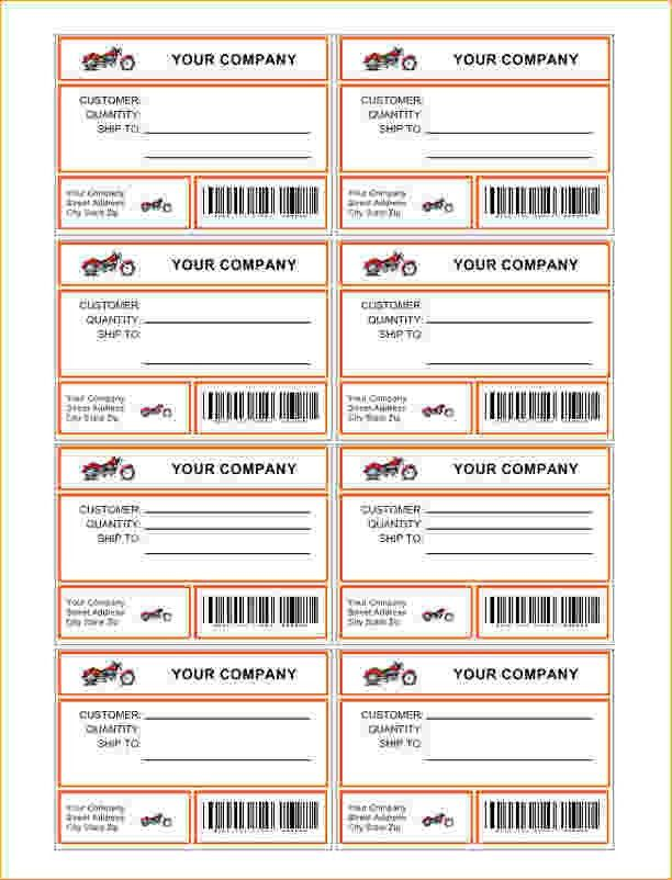 free printable shipping label template