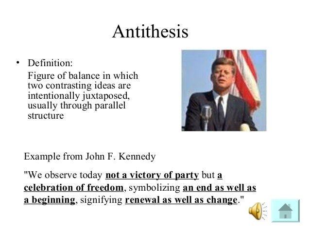 ANTITHESIS EXAMPLES - alisen berde